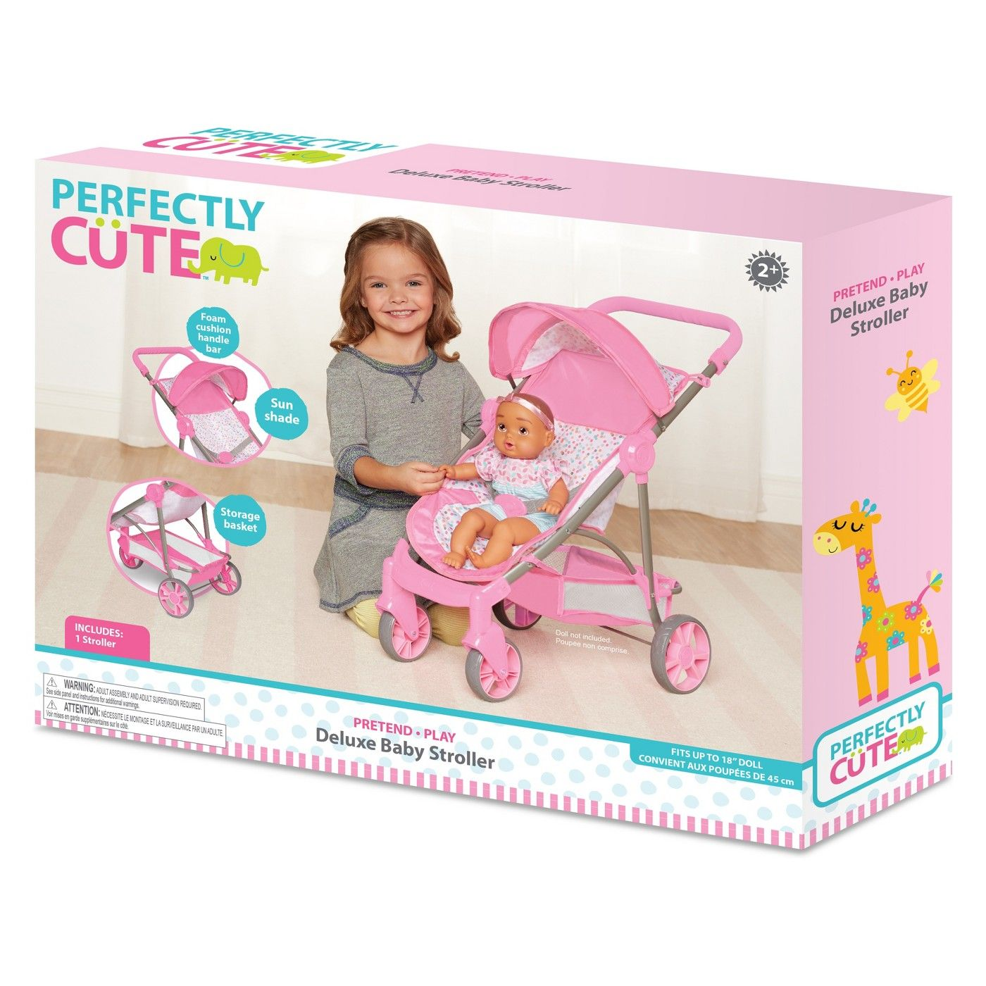 Perfectly Cute Baby Doll Deluxe Stroller Cute baby dolls
