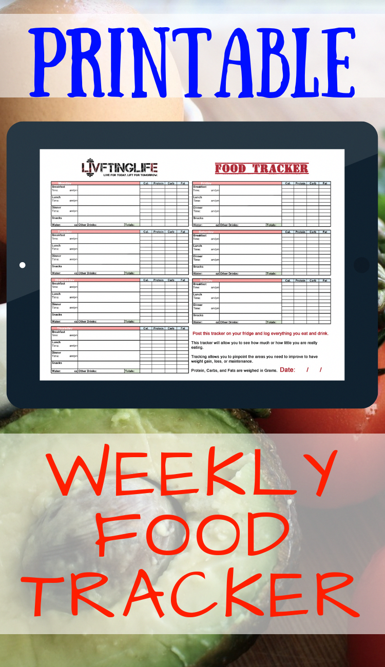 Printable Food Trackers are a great way to get your eating in check.  Print it out, slap it on your fridge, and log it!   Whatever your fitness goal is, you need to be eating right. This weekly printable will help you do just that.  Each sheet will have 7 days of food logging. This sheet is perfect for those just getting started. It will not overwhelm you like some apps and other trackers, it is straight forward and convenient.  #printables #foodtracker #w #TypesOfMolesOnSkin