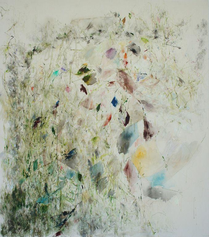 "Saatchi Online Artist: Paula Baader; Acrylic, 2013, Painting ""Holiday Home Garden"""