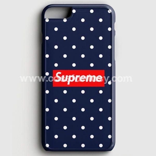 supreme blue white dot iphone 6 6s case casefantasy. Black Bedroom Furniture Sets. Home Design Ideas