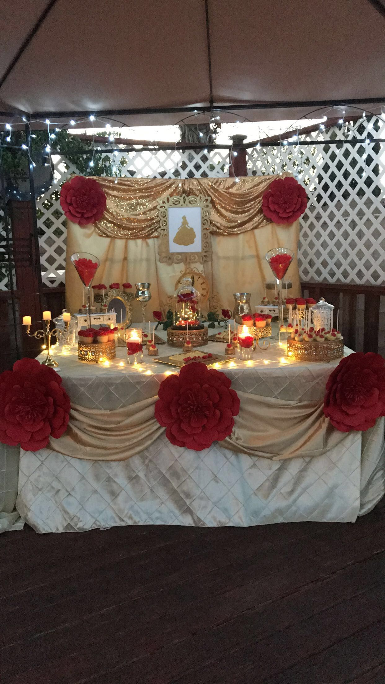 Beauty And The Beast Dessert Table Candy Bar Ideas In