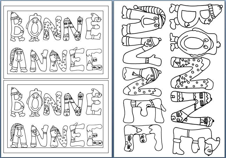 Banderole BONNE ANNEE   Le tour de mes idées | Bonne année, Carte