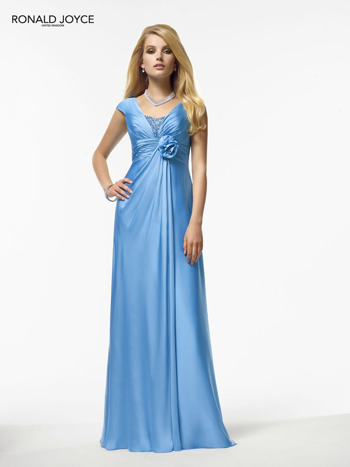 Wedding gown color blue  Ronald Joyce like the style maybe different color  My  wedding