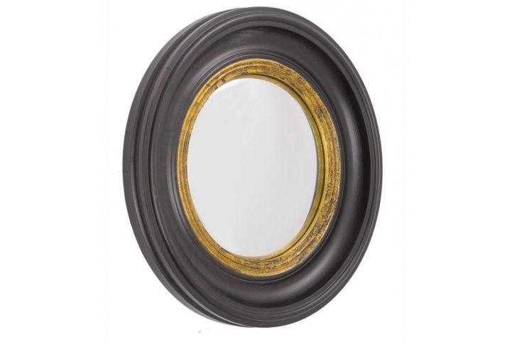 club black and gold convex mirror large absolute home interior