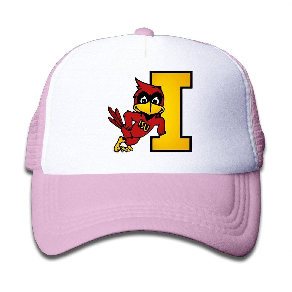 Matthe Youth Children Girl Boy Kids Punk Printed Pattern Iowa State University ISU Iowa State Cyclones Logo Unisex Half Mesh Adjustable Baseball Cap Hat Snapback Pink. Youth Fits Most 5-12 Years. Screen Print At Front Panel. 100% Nylon.3 Colors To Choose:Pink,Black, Lightblue. Need 7-14 Working Days Delivery Time. 47-58cm Adjustable.