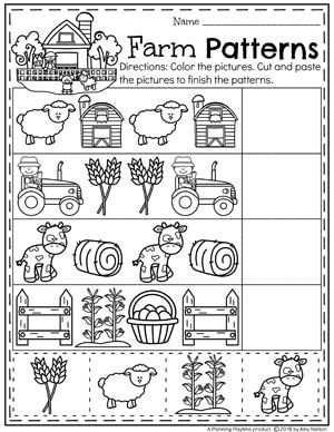 Farm Fence Patterns Preschool