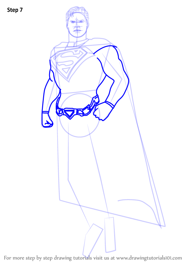 Learn How To Draw Superman From Injustice Gods Among Us Injustice Gods Among Us Step By Step Drawing Tutorials Superman Drawing Wings Drawing Superman