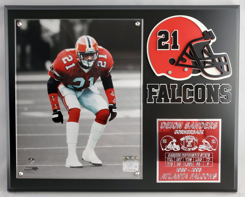 Deion Sanders 8x10 Atlanta Falcons Custom Made Plaque W Etsy In 2020 Atlanta Falcons Falcons Falcons Football