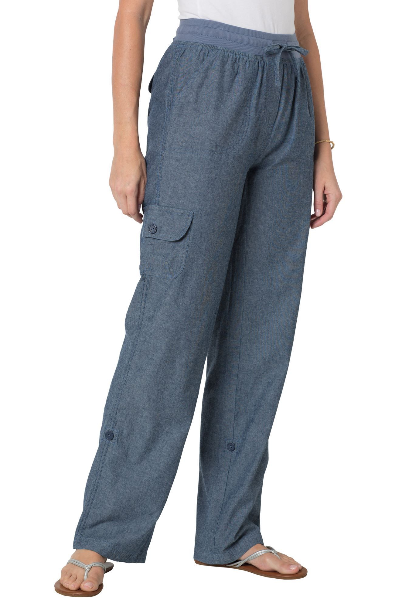 c55ccb42157d3 Woman Within® Pants with Convertible Length