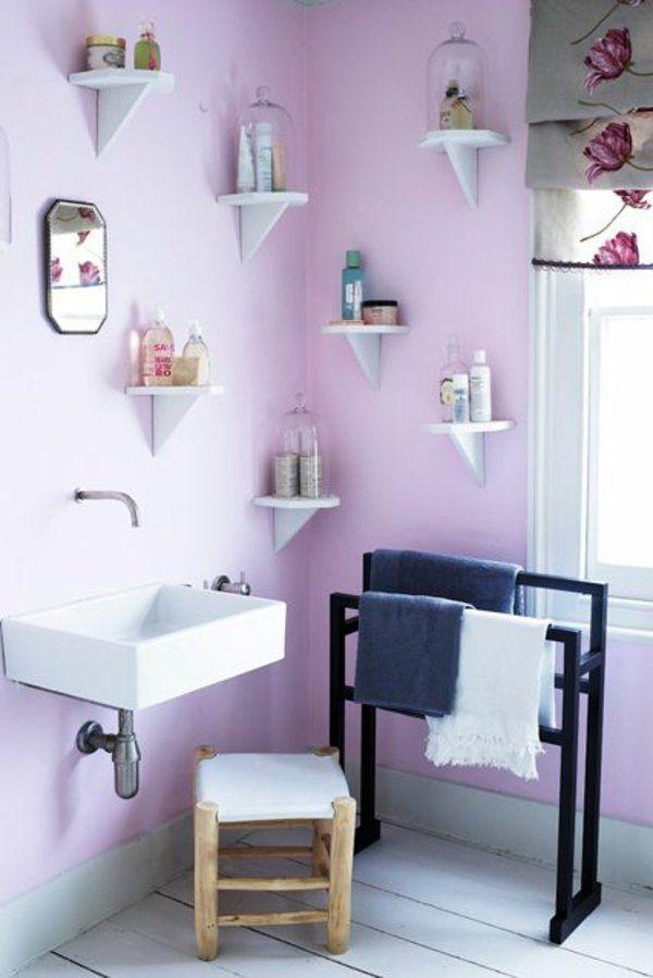 Streichideen Niedlich Wände Regal Lila Farbe