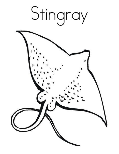 Top 10 Free Printable Stingray Coloring Pages Online Coloring