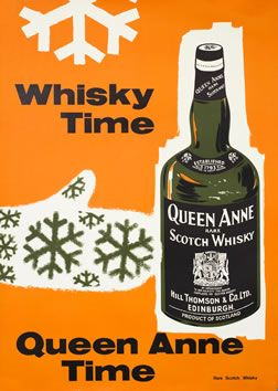 vintage poster | Illegible, Whisky Time - Queen Anne Time, 1950 ca.