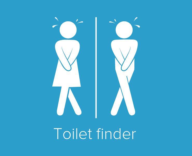 Toilet finder app. Investigate. | Investigations, App, Finder