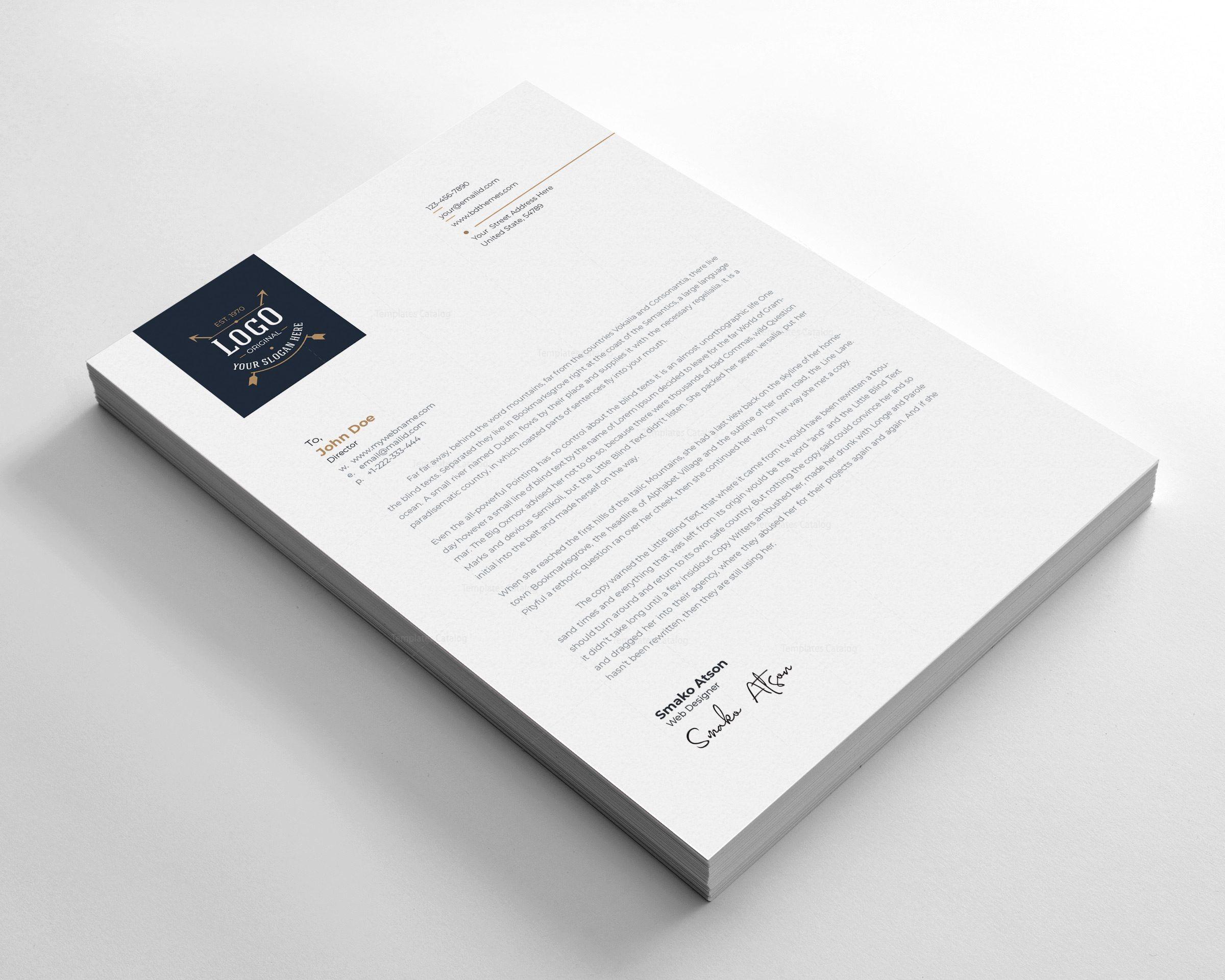 Luxury Letterhead Design Template Premium Graphic Design Templates Letterhead Design Letterhead Letterhead Template
