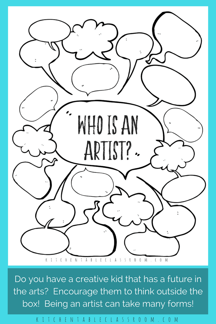 Looking At Jobs In The Arts Printable Resources The Kitchen Table Classroom Art Worksheets Art Lessons Art Careers