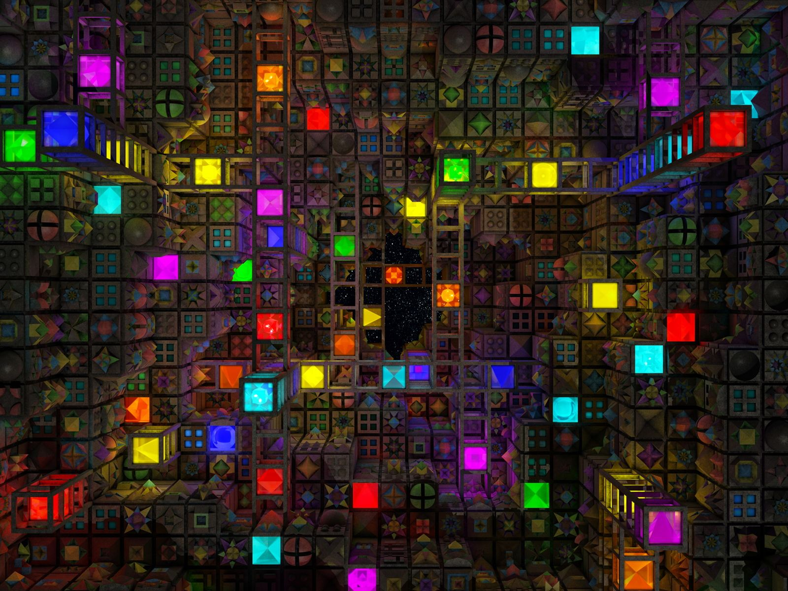 Image for Colorful 3D Cube Abstract Wallpaper Images