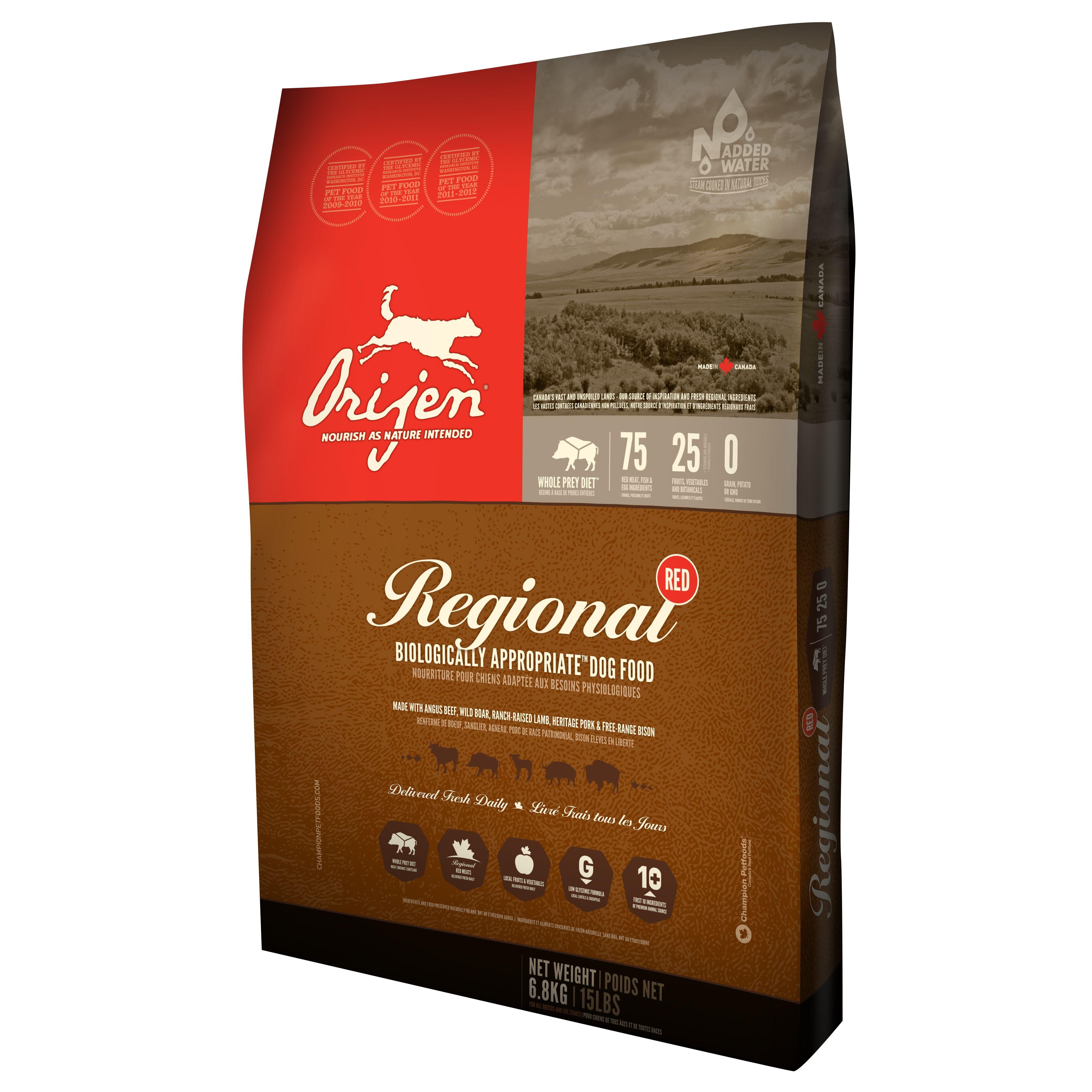 Orijen Regional Red 13 kg + Batoane Mediterranean Natural