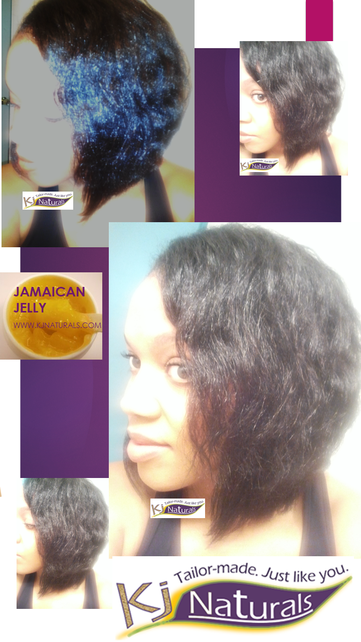 Only 1 product in my hair: Jamaican Jelly! Gave me a nice seal, soft hold & shine for this soft wave look. If you want to know how I achieved this style, click to the pic to add your name to my subscriber list and learn more about what styles you can create with Jamaican Jelly.