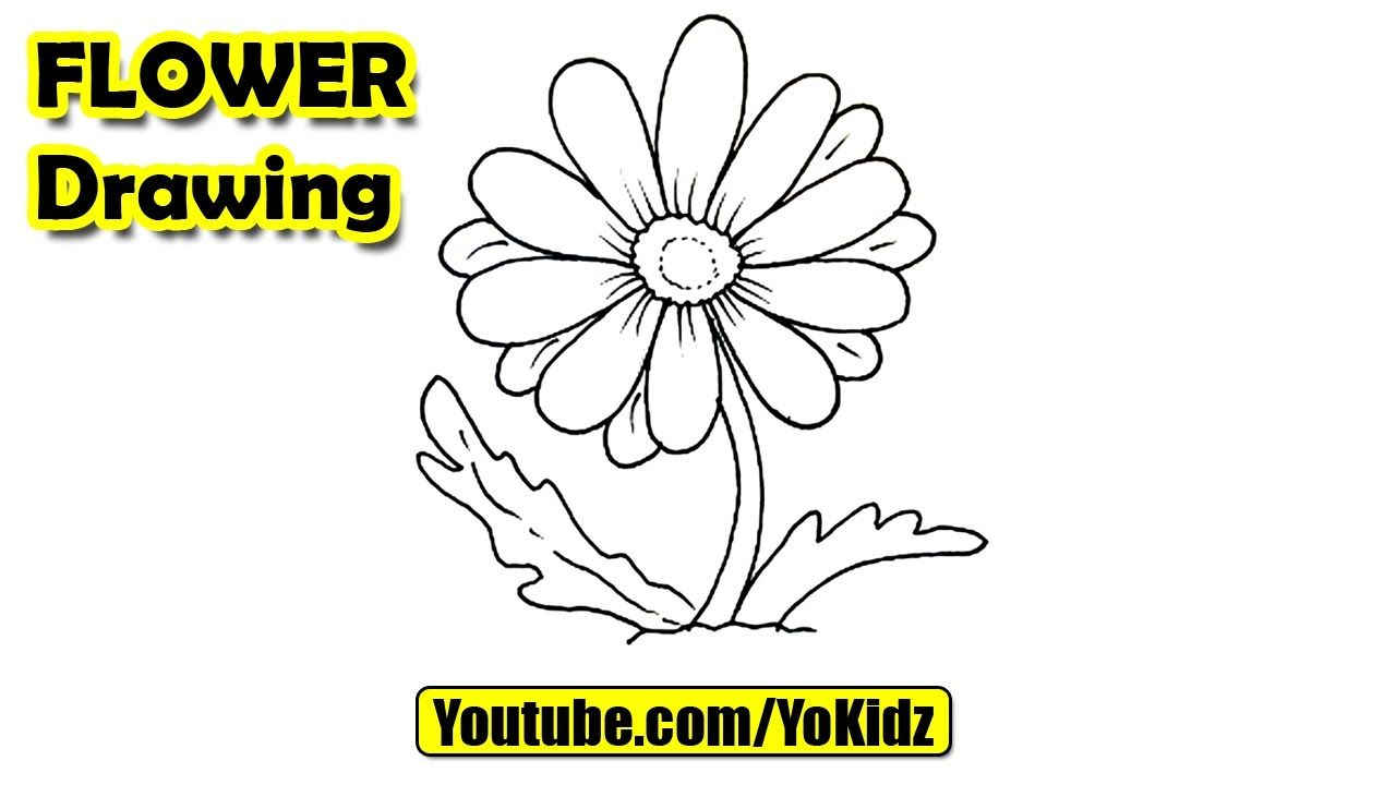 How To Draw A Flower For Kids Flower Drawing From Yokidz Yokidz
