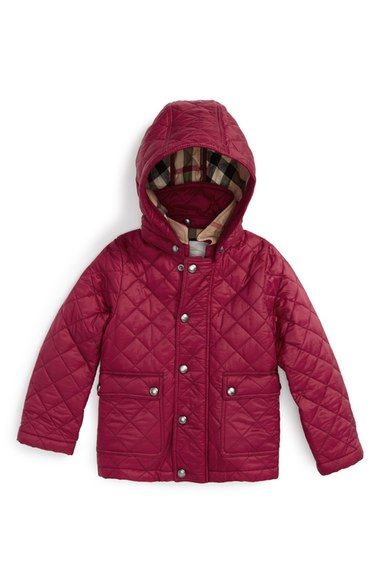 feeb0fc7929f Burberry  Jamie  Quilted Hooded Puffer Jacket (Toddler Girls) available at   Nordstrom