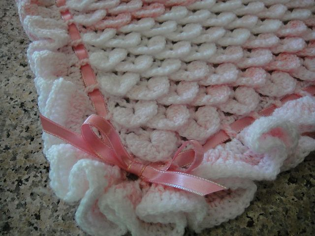 Ravelry: Project Gallery for Crocodile Stitch Baby Blanket pattern ...