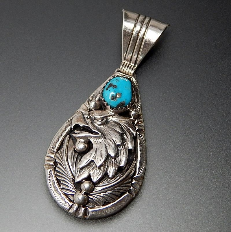 Native american harrison yazzie navajo running bear shop turquoise native american harrison yazzie navajo running bear shop turquoise sterling silver eagle pendant native aloadofball Image collections