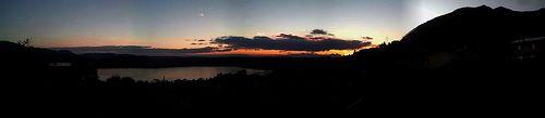 Tramonto sul Lago di Annone: novembre