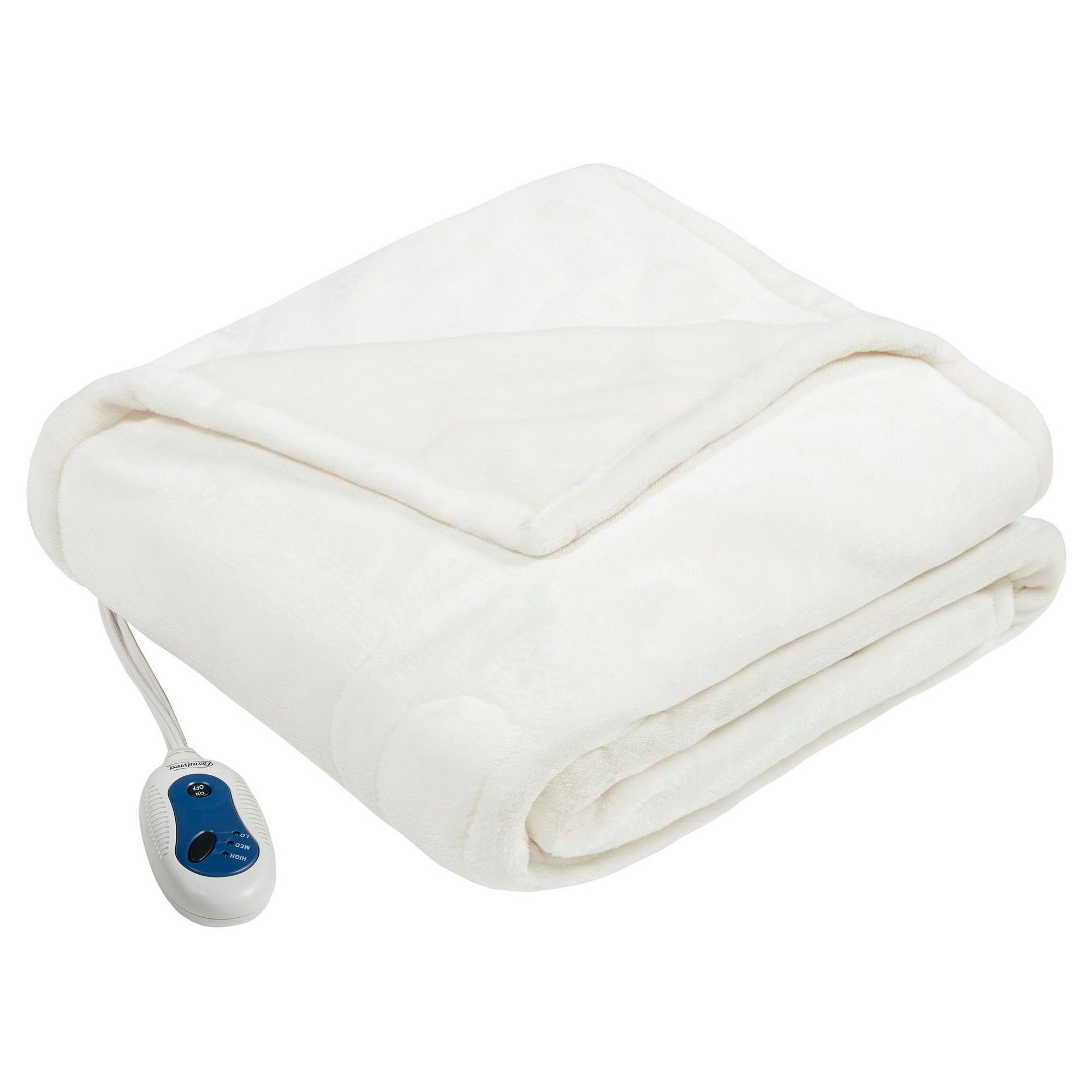 Plush Heated Throw 60x70 Ivory Heated Throw And Products