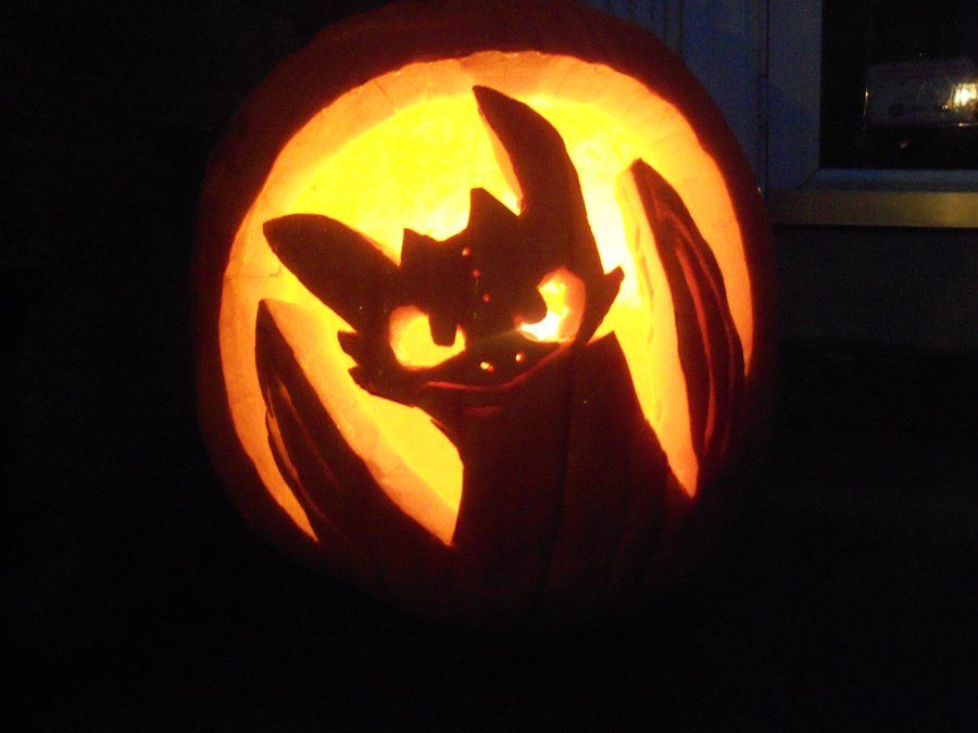 toothless jack o lantern pattern  Toothless Pumpkin!!!!! THANKS SO MUCH FOR ALL THE FAVES GUYS ...