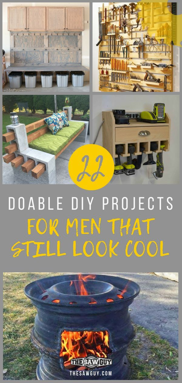 22 Doable DIY Projects for Men That Still Look Cool - The Saw Guy -   18 diy projects for men ideas
