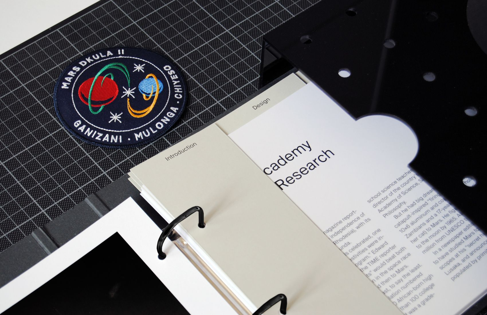 Zambia Academy Of Space Research Identity On Behance Brochure Folds Book Layout Academy