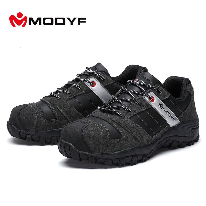 1dcac8a556d sale modyf mens steel toe cap work safety shoe genuine leather ...