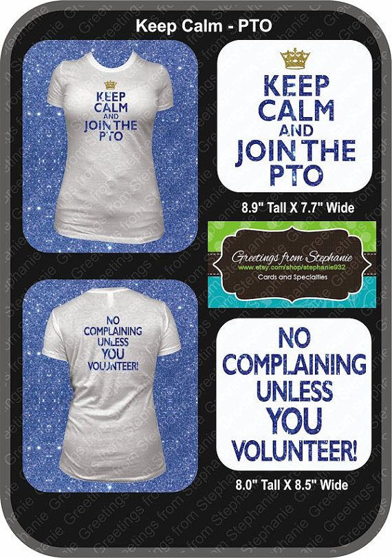 Keep Calm Amp Join The Pto Or Pta Glitter Vinyl T Shirt