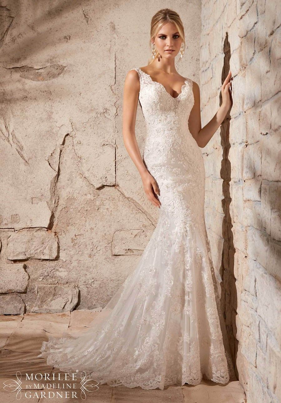 Lace wedding dress under 300  Sexy Flowy and Luxurious Low Back V neck Mermaid Wedding Dresses
