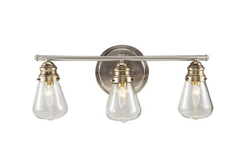 menards bathroom vanity lights patriot lighting 174 aristotle 23 quot nickel 3 light vanity 19443