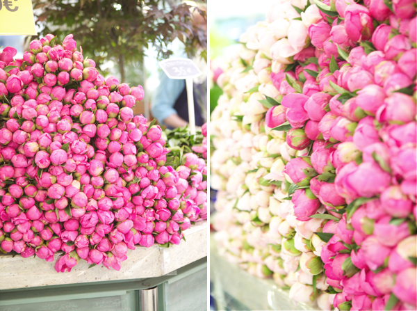 peonies in paris, Jordan Ferney. What a display this will make at a backyard party or wedding?!