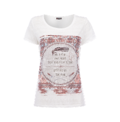 Street One T Shirt Mit Ausbrenner Effekt Und Federn Print Marken T Shirts T Shirt Damen Shirts