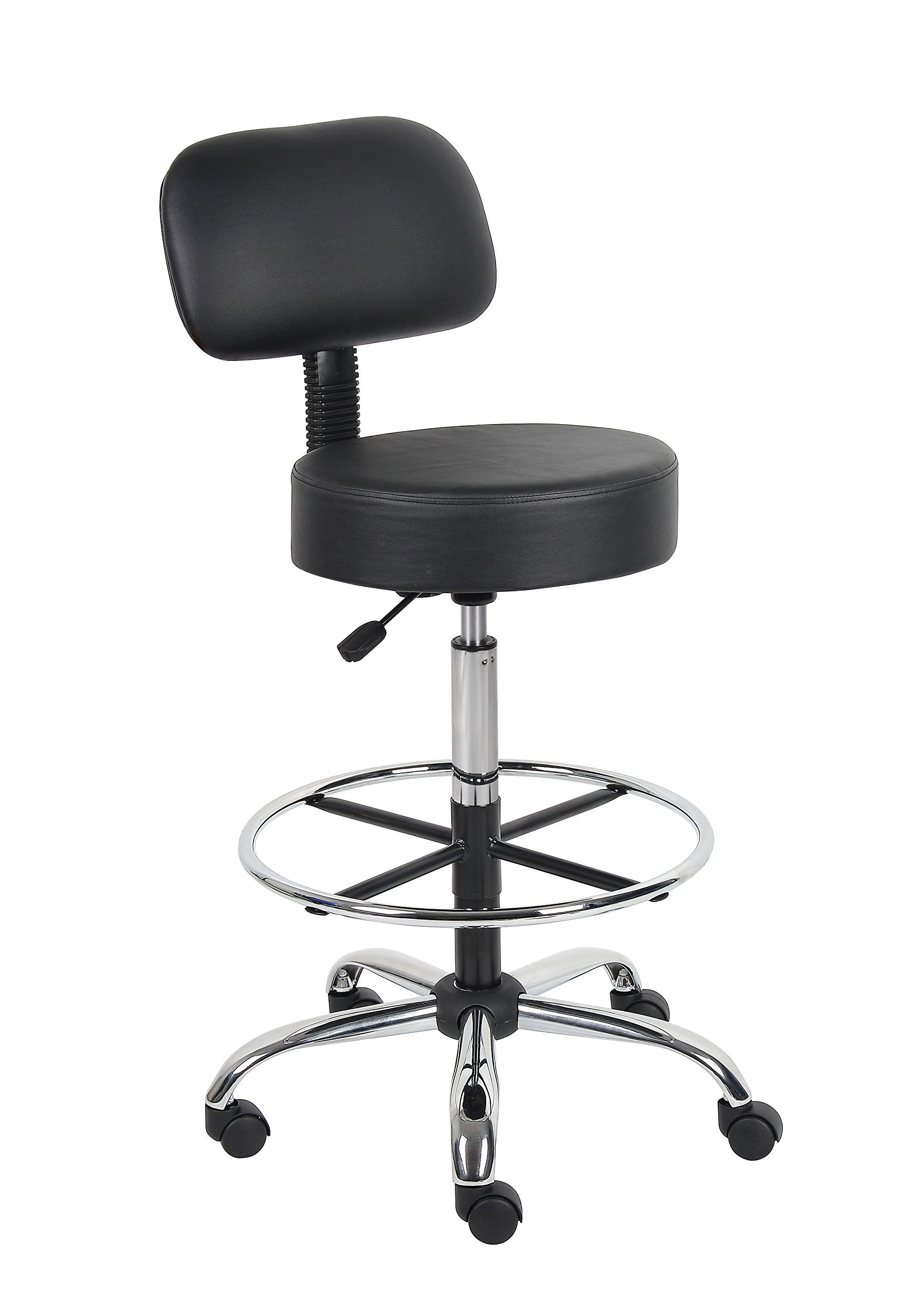 Boss Office Products B16245Bk Be Well Medical Spa Drafting Stool