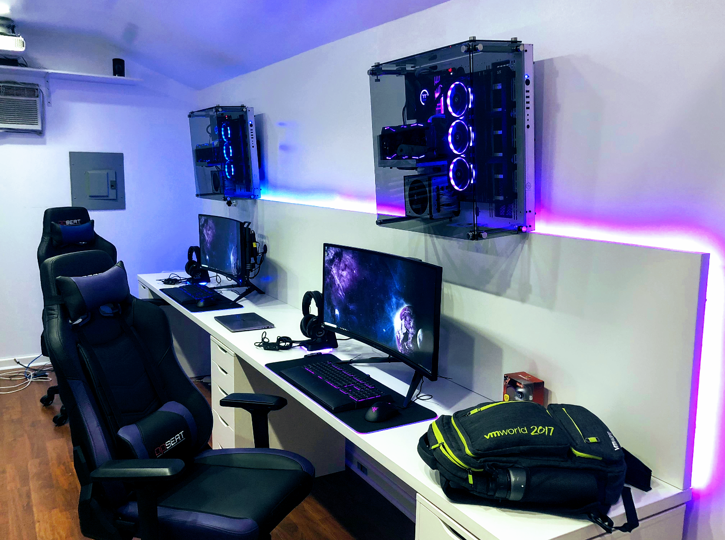 Pin By Tyler S Custom Builds Gaming On Gaming Room Setup