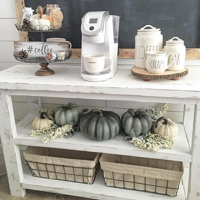 Idea For Coffee Bar Remove Doors And Distress Paint Home Beauty