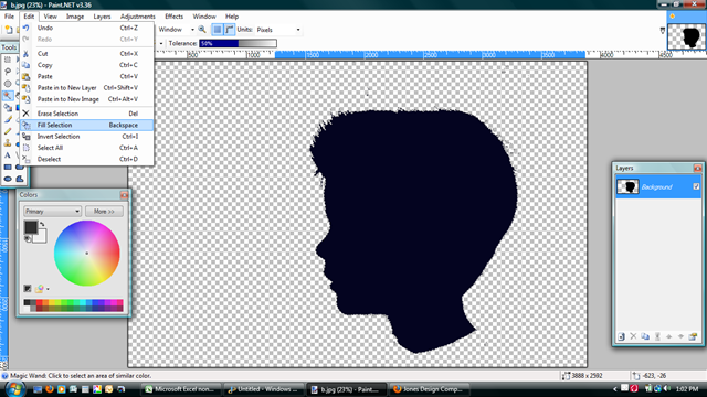 How to make a silhouette from a photograph
