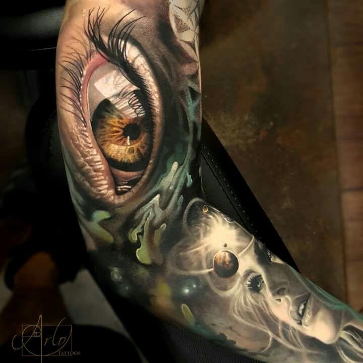 Arlo Di Cristina Arm Tattoo: Tattoos, Sleeve Tattoos, Realistic