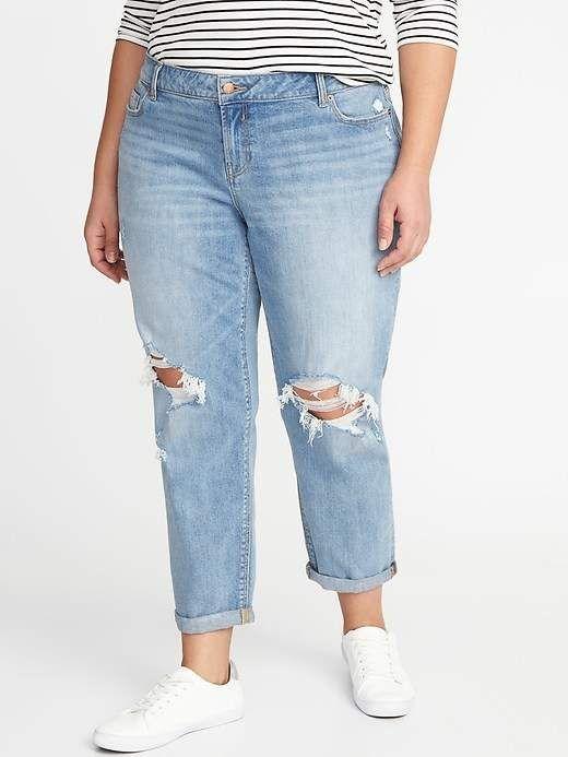 8324f8dc9de Old Navy Mid-Rise Distressed Boyfriend Straight Plus-Size Jeans ...