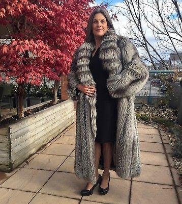 2fa4cd820c BRAND NEW - Real Silver Fox Fur Coat - Woman Full Length Winter Jacket