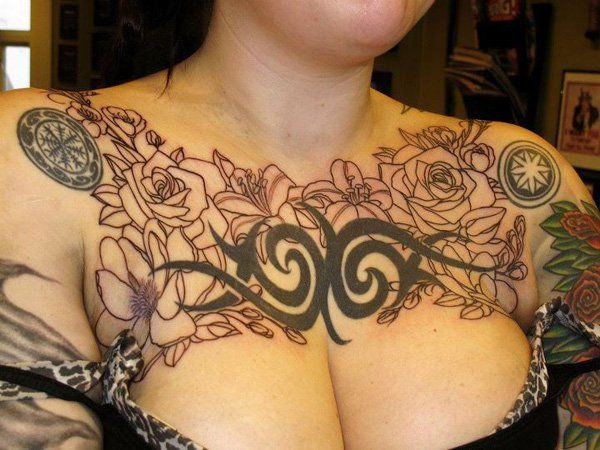 Tattoo Ideas For Women Chest: 75 Nice Chest Tattoo Ideas