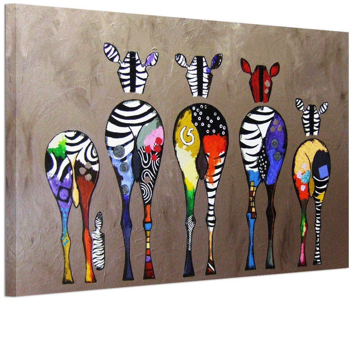Rain Queen Cute Colorful Zebra Poster Print Painting Wall