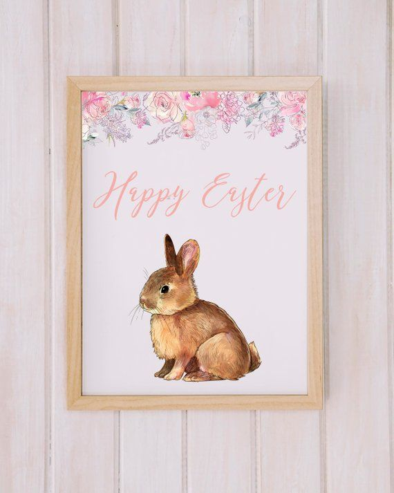 Happy Easter Printable Easter print Easter Home Decor Easter Prints