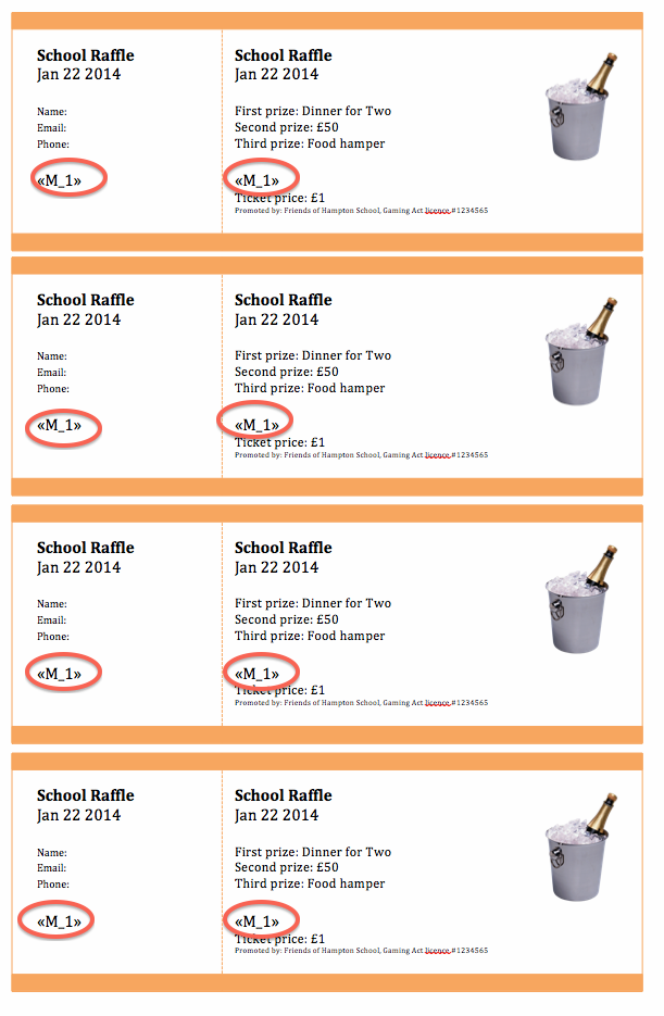 Instructions For Creating Numbered Raffle Tickets In Word Or Publisher  Create Raffle Tickets In Word