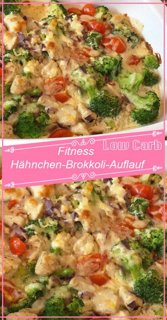 Fitness Hähnchen-Brokkoli-Auflauf -  Fitness Hähnchen-Brokkoli-Auflauf – GesundeRezepte.me  - #Fitne...
