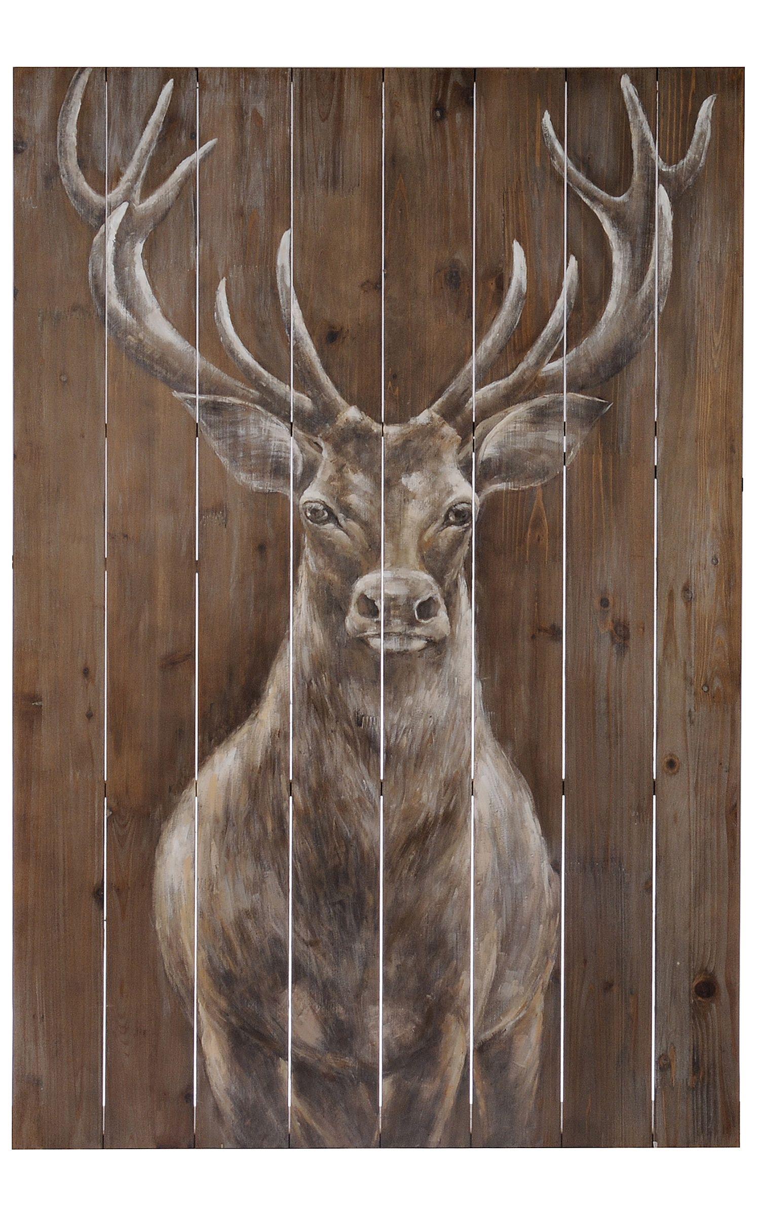 Product Details Woodland Majesty Painted Wood Art